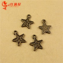 13*11MM Zinc alloy plating bronze Pentagram small mini little star charms DIY jewelry accessories wholesale retro metal pendant