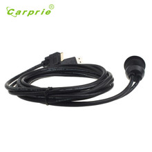 Car Electronics usb2.0 HDMI car usb connector 2m Motorcycle Installation Female To Male Extension Cable nov23(China)