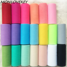 24colors 1pc 22mX15cm Wedding Table Runner Decoration Yarn Roll Crystal Tulle Organza Sheer Gauze Element wedding favors(China)