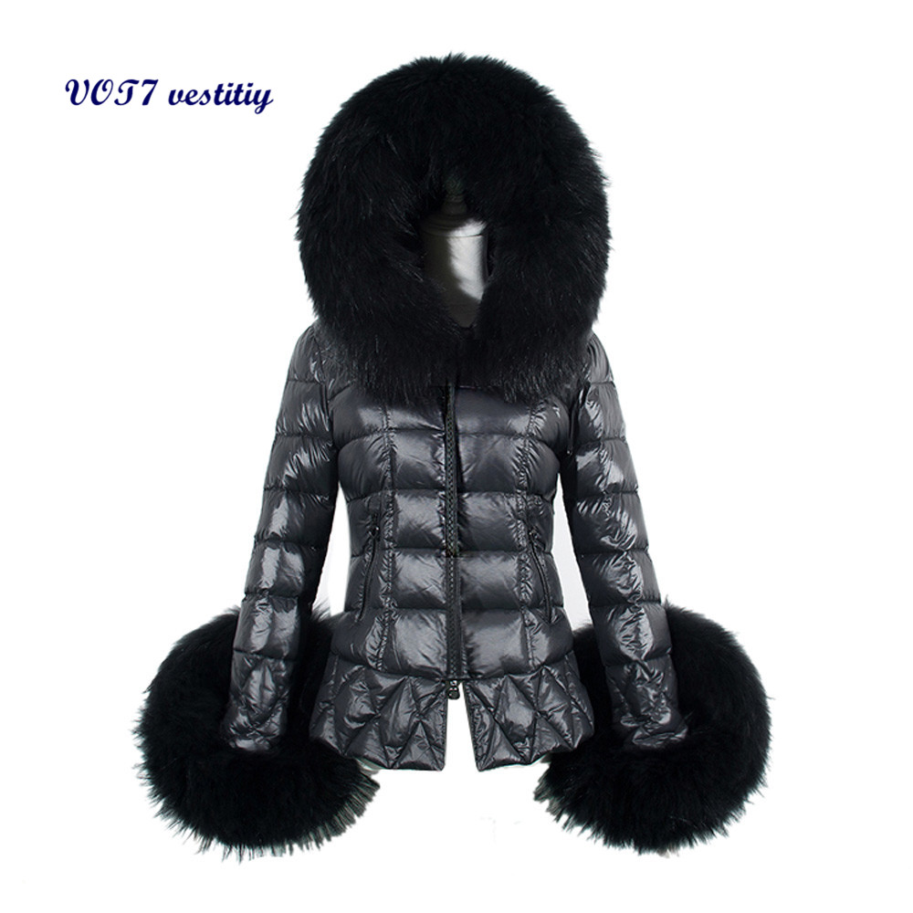 Warm and fashion coat VOT7 vestitiy New Winter Womens Down Cotton Parka Fur Collar Hooded Coat Quilted Jacket  Aug 12Одежда и ак�е��уары<br><br><br>Aliexpress