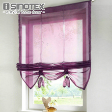 German Style Liftable Window Curtains Nice Sheer Voile Roman Curtain Tulle Blinds for the Kitchen Balcony Rod Pocket 1PCS(China)