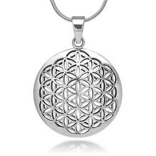 my shape Women accessories Silver Tone Flower of Life Necklace&Pendant Mandala Sacred Geometry Jewelry Fashion Women Necklaces