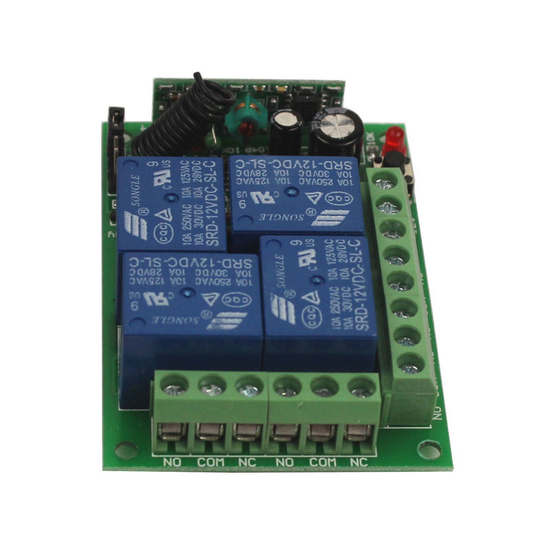 12V 4CH Remote Switch 433MHz Electric Door Remote Control Switch Universal 12V 4CH 315MHz433MHz Transeiver Module (10)