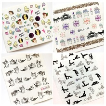 Newest Fashion DLS-382 cartoon water seal water transfer nail art sticker supplier accessories water decal(China)