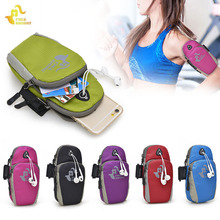 5.5inch Sports Running Jogging Gym Armband Arm Band Holder Bag Sports Outdoor Hiking Wrist Bags For Mobile Phones Free shipping