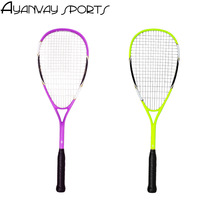 a piece Squash racket Carbon Integrated type Beginner training Durable Skidproof free a hand tape 3 pcs Practice squash a bag(China)