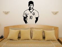 Neymar Da Silva Wall Decal Barcelona Brazil Football Player Wall Stickers Home Decor Living Room Poster Bedroom Modern WW-34