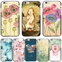 5C Black PC Case Cover For Apple iPhone 5C Cases Phone Shell Painted Happy Birds Family Aroma Charming