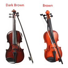 Adjustable String Musical Beginner develop Kid talent Simulation Toys Bow Acoustic Violin Practice Demo Instrument Children Gift