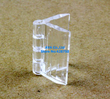 10 Pieces Clear Acrylic Plastic Hinge Plexiglass Hinge / Size: 30x33mm