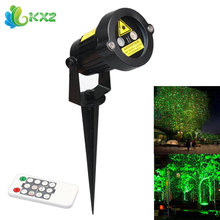 Outdoor Green&Red LED Laser Projector Stage Light Christmas Party Garden Tree Landscape Star Decoration Lamp with 10 Feet Cable