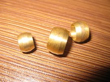 100pcs/set free shipping brass fitting olive, 6mm ID brass olive for the compression fittings