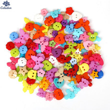 High Quality 50-100PCS mix Assort Plastic Sewing Buttons, For Scrapbooking Sewing Craft Sewing Accessories Appliques 10mm-23mm(China)