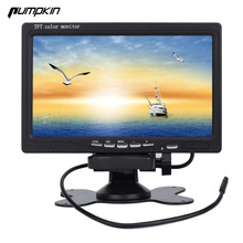 New Pumpkin 7 inch 16:9 Car TFT LCD Analog TV Stand Alone Monitor Digital Car Rear view Monitor Camera Car Headrest DVD Player