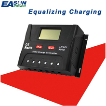 EASUN POWER Solar Controller Charge PWM 50A 60A LCD Voltage Regulator 12v 24v Solar Regulator Solar System Charger Controller(China)