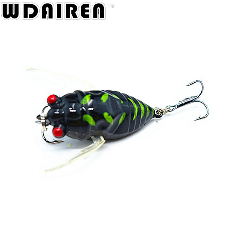 1PCS 4cm 6g Flying Jig Wobbler Lure Hard Lure Bait Artificial Bait Grasshopper Insects Sea Fishing Hooks Tackle Fishing Lures(China (Mainland))