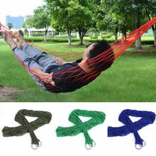 240*80cm Nylon Hammock Outdoor Portable Leisure Bed Hanging Bed Double Sleeping Canvas Swing Hammock Camping