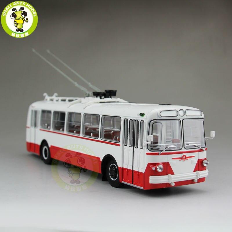 1/43 ZIU-5 ZIU 5 Russian Soviet Trolleybus Bus Classic 04006B Diecast Model Red<br><br>Aliexpress