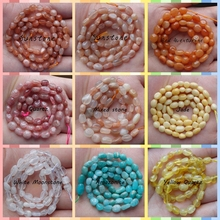 15 inch/Strand Free Shipping Orange Sunstone Moonstone Amazonite Red Aventurine Quartz Loose Beads Necklace Jewelry