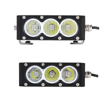 30w 6inch Single Row Led Light Bar with Crees 10w High Light Output White Amber Yellow color Flood Spot Beam For Cars