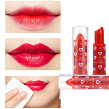 Red Color Glitter Lipstick Batom Lips Makeup Accessories Batom Soft Wet Beauty Lipstick Balm M03474