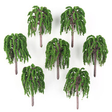 25 Model Willow Trees Rail Garden Park River Road Scenery 1:100 New