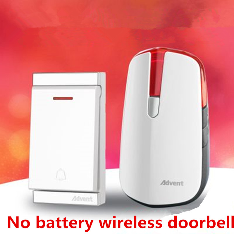 32 Tunes Wireless Cordless Digital Doorbell Remote Door Bell Chime,No need battery,Waterproof,EU/US/UK Plug 110-240V White<br>