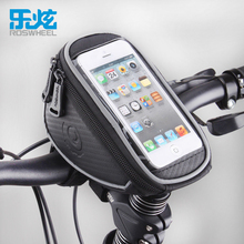 ROSWHEEL Bicycle Front Frame Handlebar Bag Pouch for 4.2 in/5 in/5.7 in Cellphone Bike phone bag touch screen Cycling equipment(China)