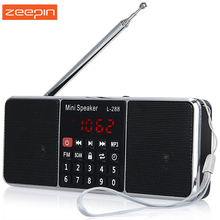 Zeepin Portable L-288 Mini FM Radio Speakers Stereo Music Player TF Card USB Disk LCD Screen Volume Control Loudspeaker(China)