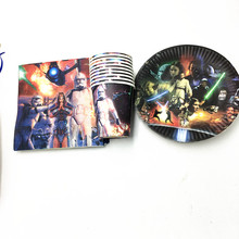 60PCS/LOT STAR WARS DISHES BABY SHOWER BIRTHDAY PARTY SET STAR WARS NAPKINS CUPS TSTAR WARS PLATES DISHES PAPER CUPS(China)