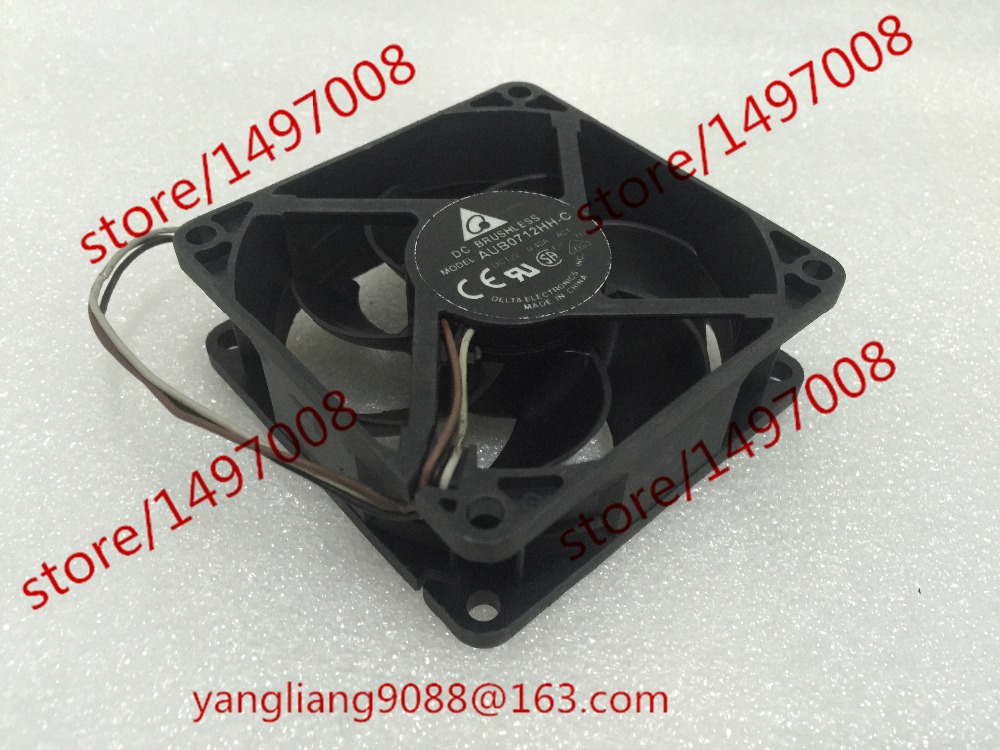 Free Shipping For DELTA AUB0712HH-C, A01 A02 DC 12V 0.40A, 70x70x25mm 3-wire Server Square Cooling Fan<br>