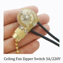 Zipper switch wall light switch ceiling fan switch 2 wire single control lamp pull switch 1PC free shipping