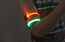 10pcs/lot Nylon LED Sports WristBands Strap Glowing Armband Light Flashing Bracelet For Party Concert Sporting Accessories