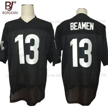 BONJEAN New Cheap American Football Jersey Willie Beamen #13 ANY GIVEN SUNDAY Movie Jersey Black Stitched Mens Shirts(China)