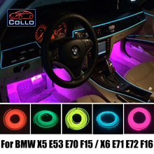 For BMW X5 E53 E70 F15 X6 E71 E72 F16 / Car Decoration Cold Light Atmosphere Lamp / 9 Meter EL Wire Car Console Decorative Strip(China)