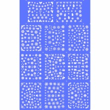 11 PACK/ LOT WATER TRANSFER DECAL NAIL ART NAIL STICKER WHITE XMAS CHRISTMAS SNOW FLAKE D260-270W(China)