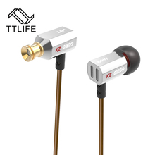 TTLIFE Original Bowl Tuning Nozzles T Shaped HiFi Monitors Earphone With Microphone Super Bass For Phone Transparent Sound(China)