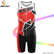 Imported-Clothing Malciklo men sleeveless set Jumpsuit V-neck Elasticity Tight Biking Coveralls 2017 Racing Cycling Jersey