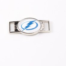 Tampa Bay Lightning NHL Hockey Team Logo Oval Shoelace Charms For Sport Shoes And Paracord Bracelets Jewelry Decoration 6pcs(China)
