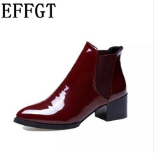 EFFGT Women boots Sexy Rain Boots Women Ankle Boots Casual Platform Shoes Woman Slip On Creepers Casual Flats women shoes Z435