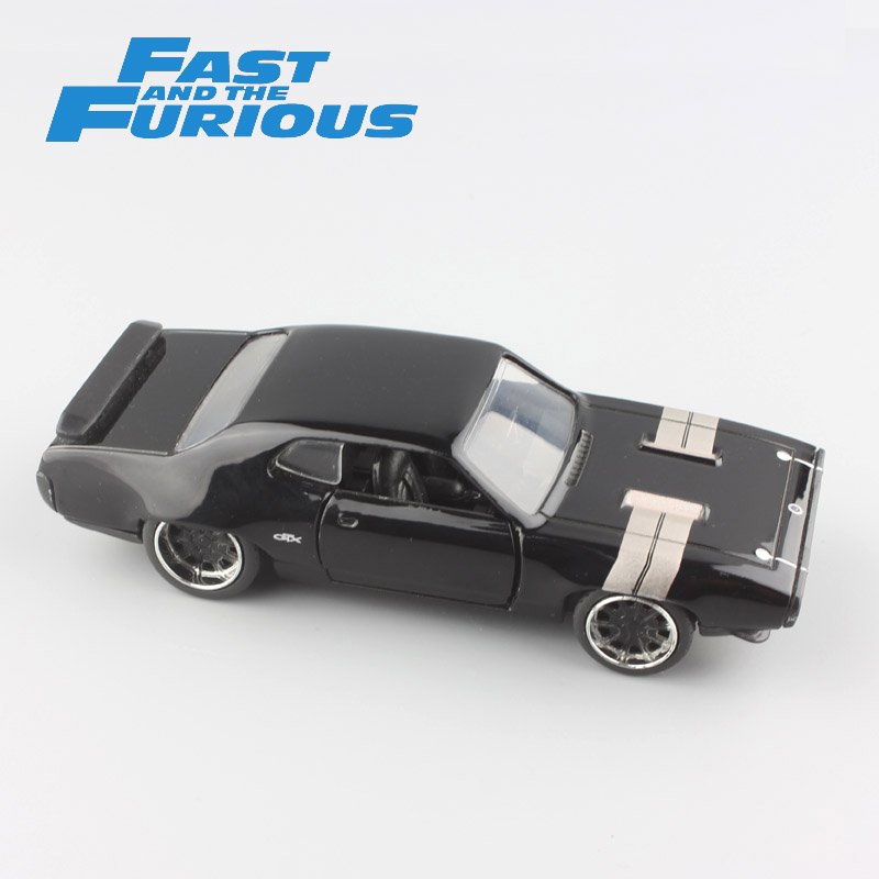 1:32 Scale classic mini FAST and FURIOUS DOM's Plymouth GTX 1972 metal diecast model muscle car race kids toys for collection(China)