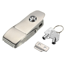 304 Stainless Steel Concealed Toggle Latch Safety Catch Key Locking Spring Loaded