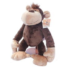 1pcs 22cm Lovely NICI Monkey Stuffed animals Soft doll plush Toy Stuffed Toys Creative Birthday Gift for Children(China)