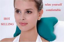 1pc Stone style Car neck massage pillow green color   sleeping massage pillow  #H00325