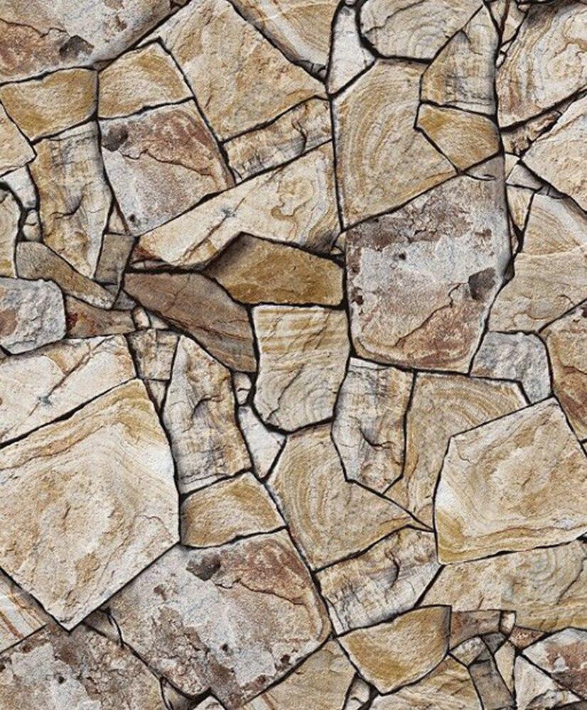 HaokHome Modern Faux Sandstone Wallpaper Sand/Khaki Textured Brick Rolls Living room Bedroom Home Wall Decoration<br>