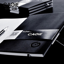 CAGIE Vintage Leather Notebook Diary  A4/A5 Office Planner Agenda Filofax  Business 90 Pages Black Cuaderno Sketchbook Notepad