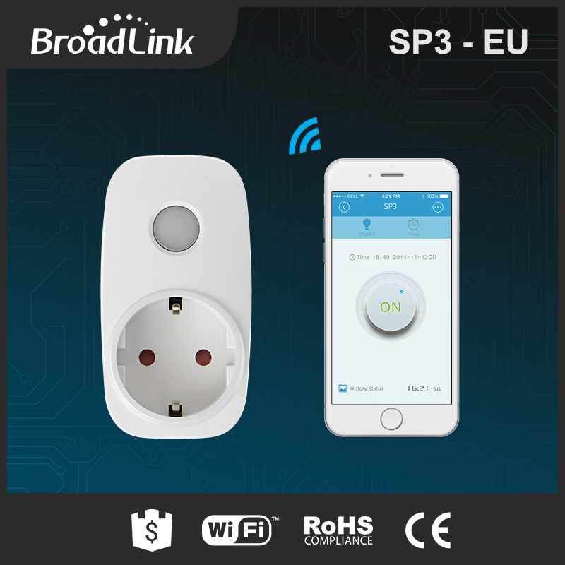 Broadlink Sp3 SP CC 16A+Timer EU US standard mini wifi socket plug outlet Smart remote wireless Controls for iphone ipad Android(China)