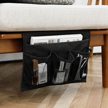 Bedside Chair Desk Storage Bag Cabinet Sofa Slipcovers Hanging Desk Storage Bag For TV Remote Magazine Book Rangement cable bag(China)