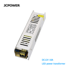 JCPOWER slim 12V 10A 120w Voltage Transformer Switch Power Supply for Led Strip Led control Led switch LED display(China)