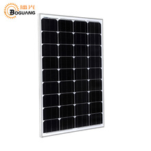 Boguang 50W glass Monocrystalline solar power station solar cell factory cheap selling 12V solar panel for home battery charge(China)